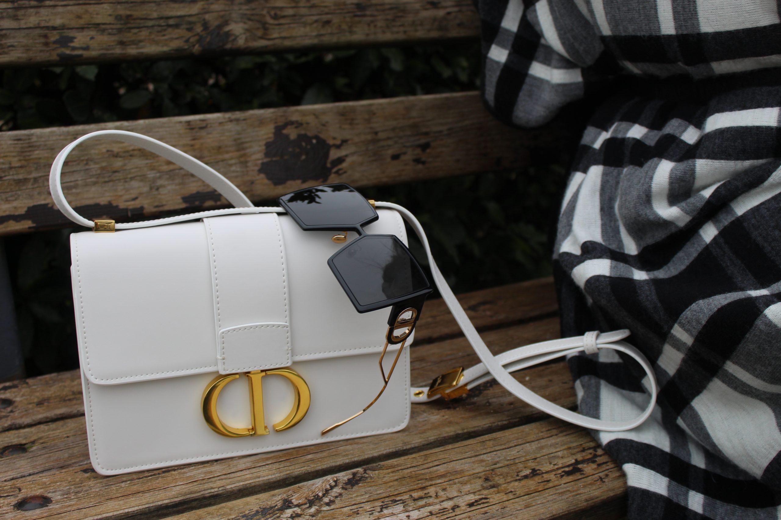 checked black and white blancket cape winter look Dior accessories Paola Lauretano