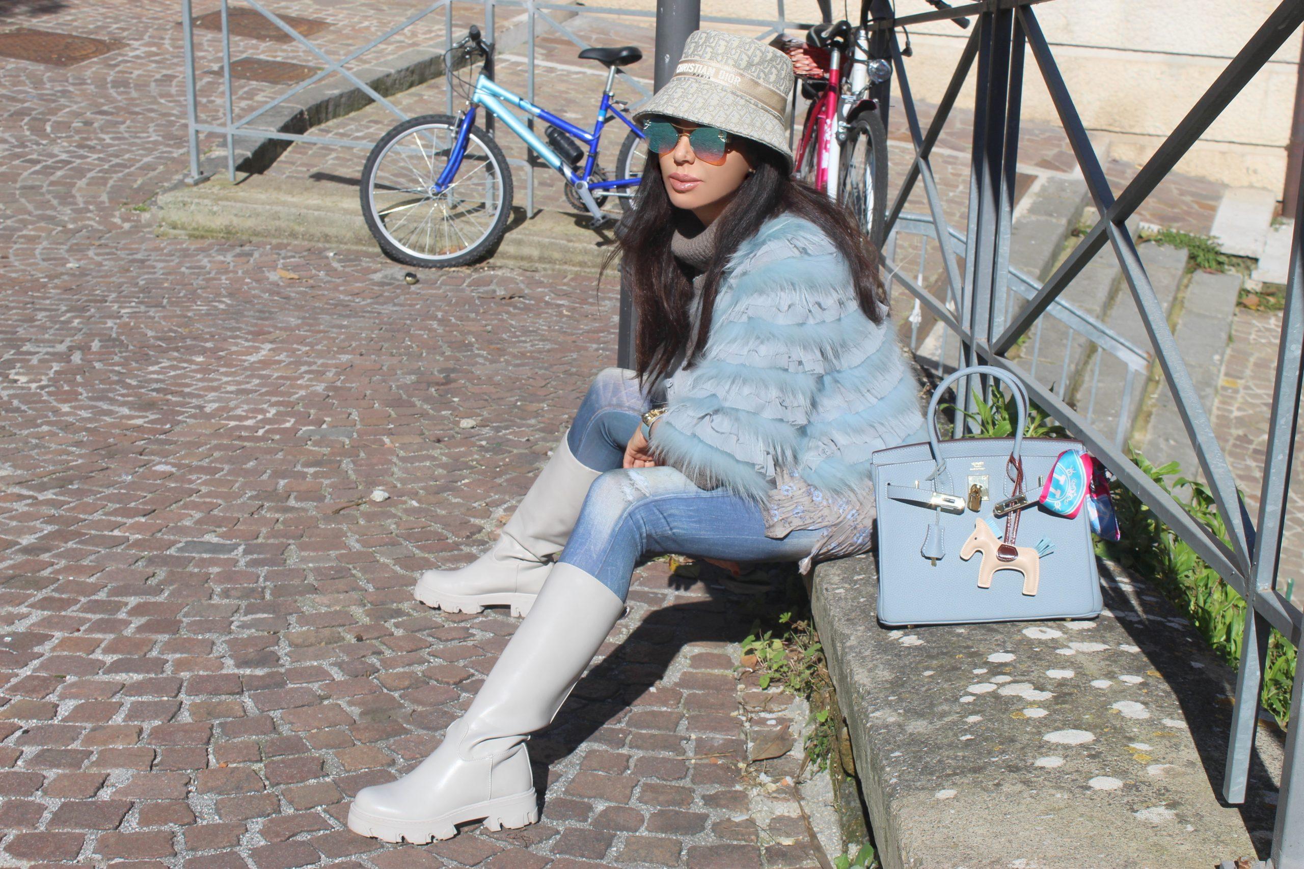 spring color total look Paola Lauretano