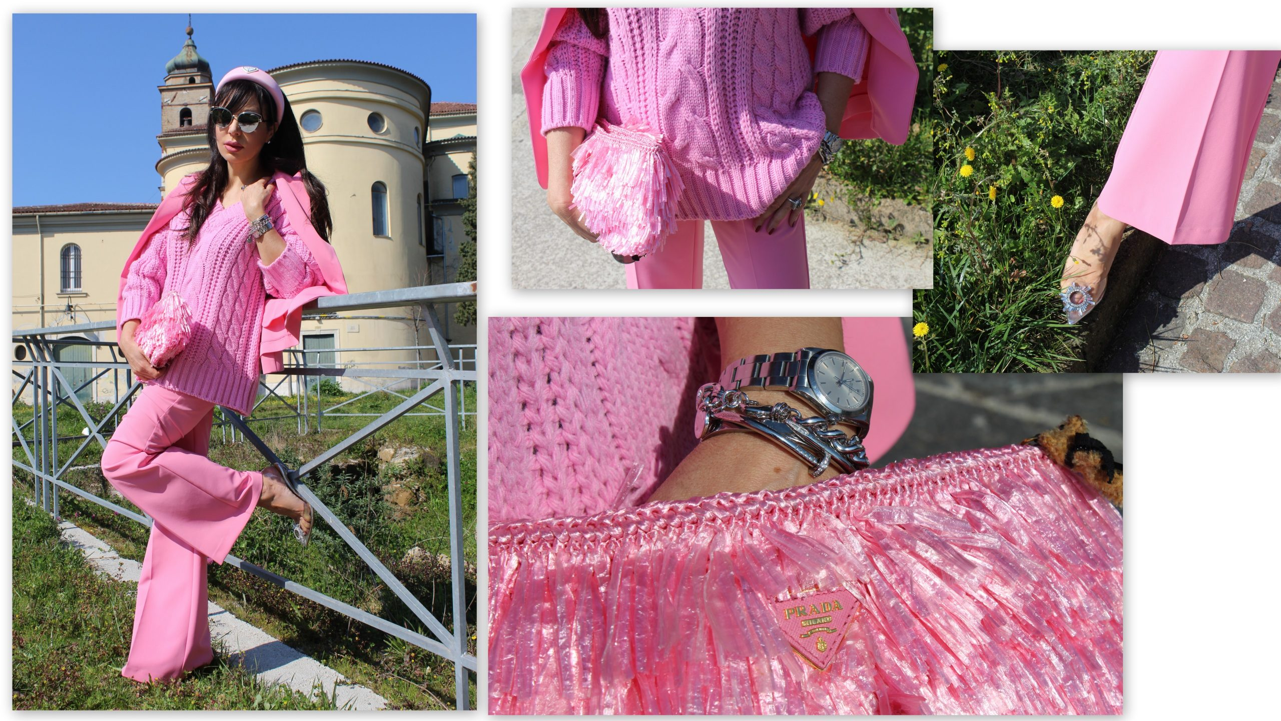 pink power spring trend hot pink prada accessories Paola Lauretano