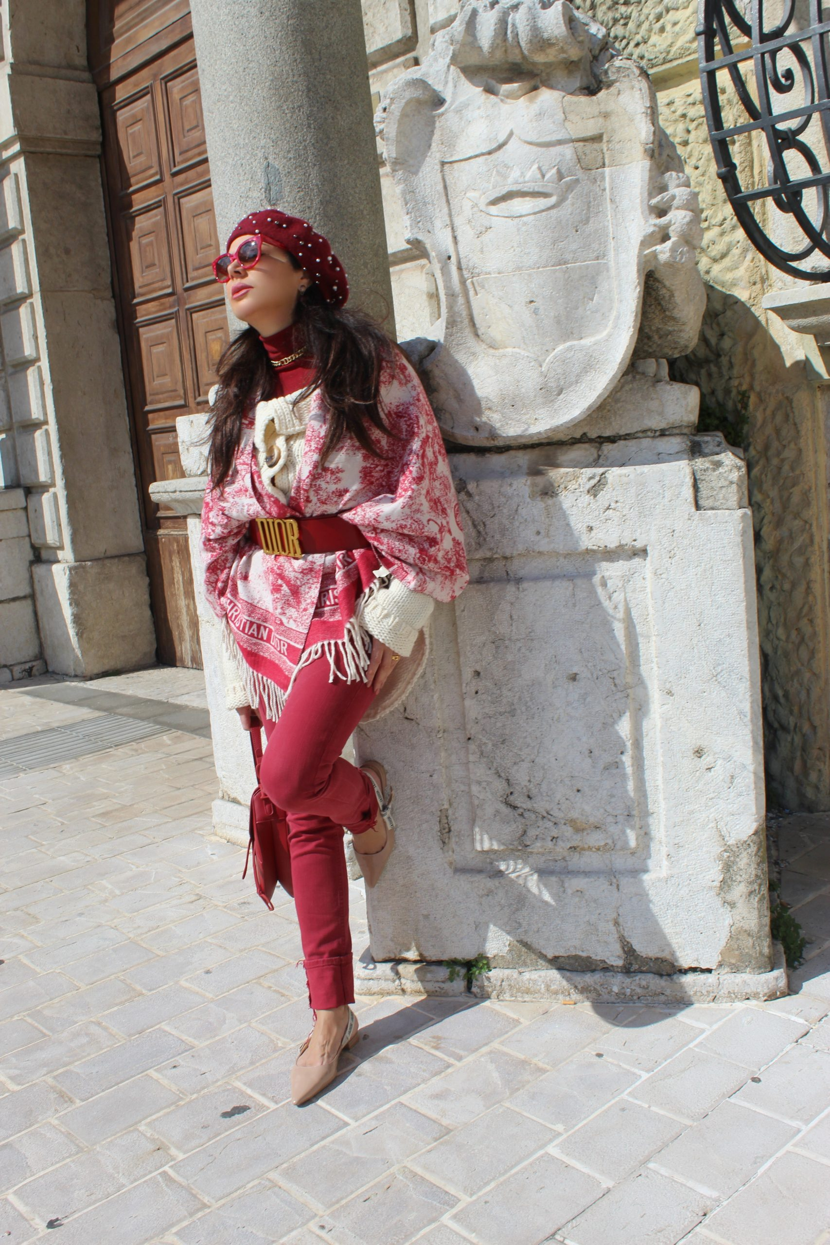 red and white trend for spring twinset cardigan Dior details Paola Lauretano