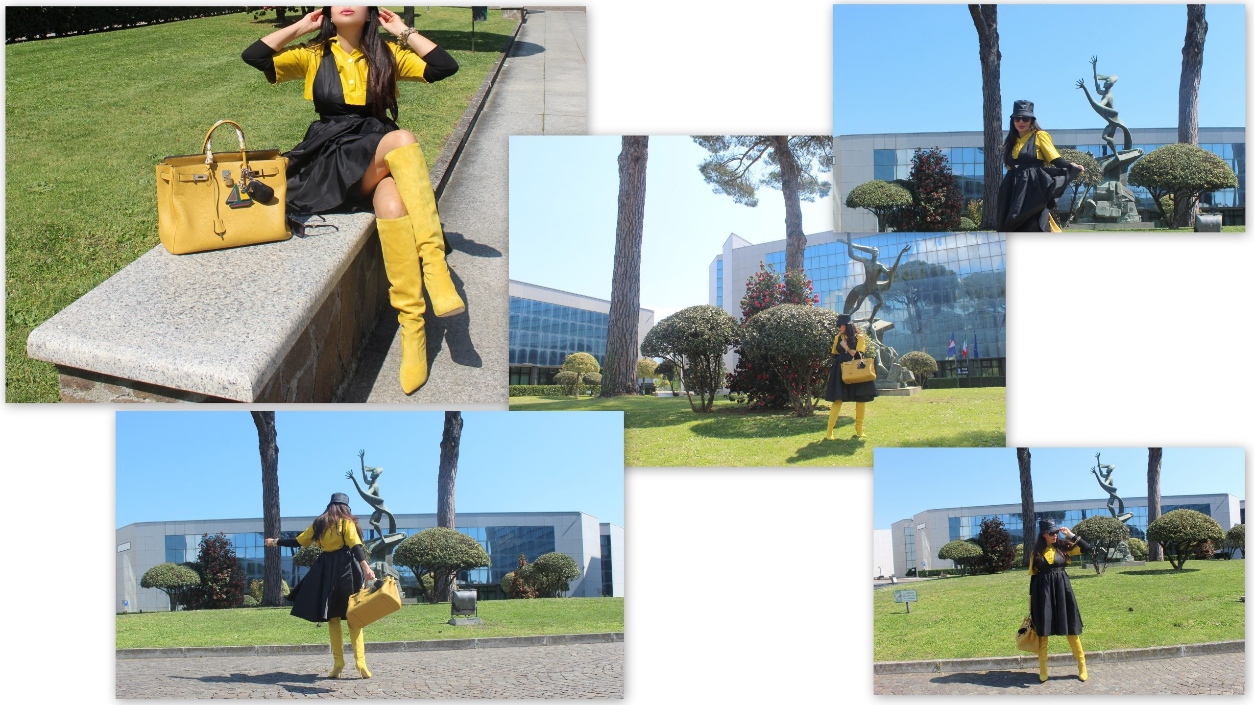 black and yellow spring trend Hermes Birkin Bag Paola Lauretano