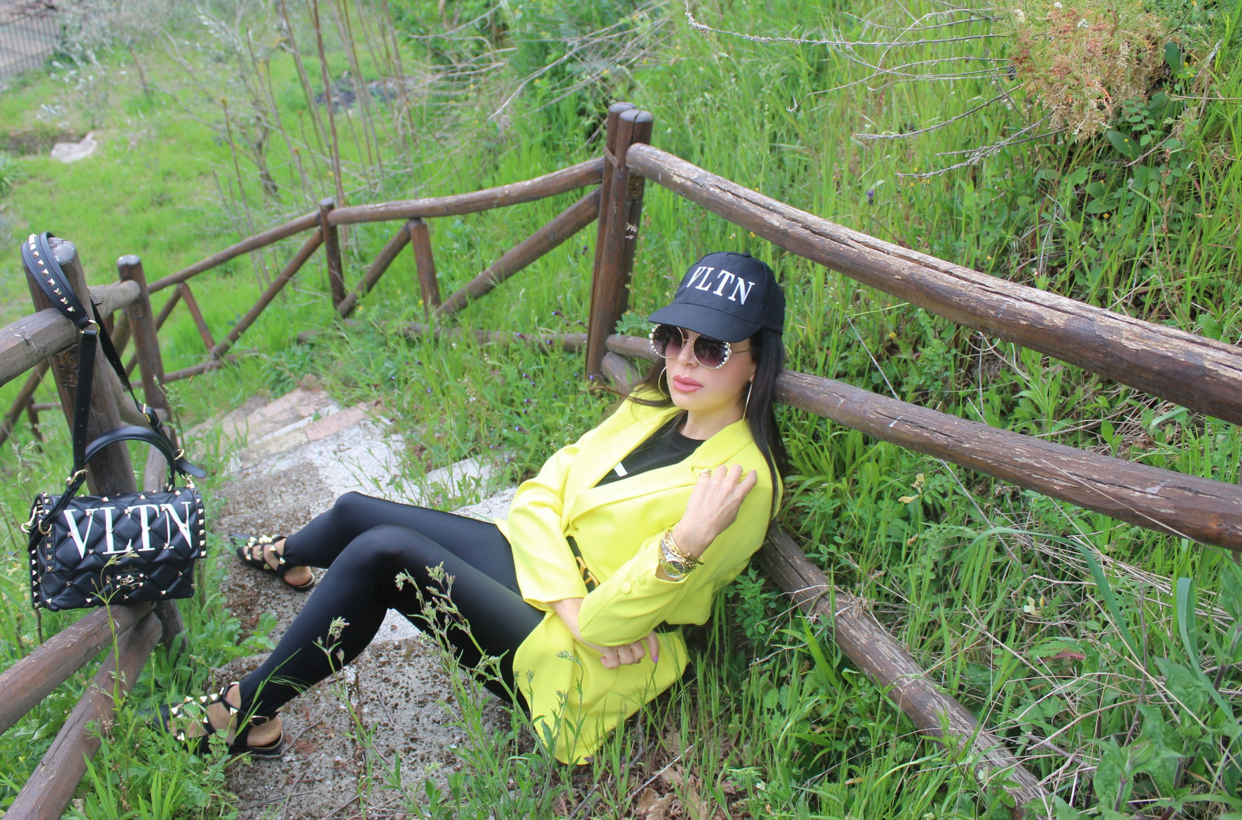 Tailored Jacket Yellow and Black Trend Valentino Accessories Paola Luretano