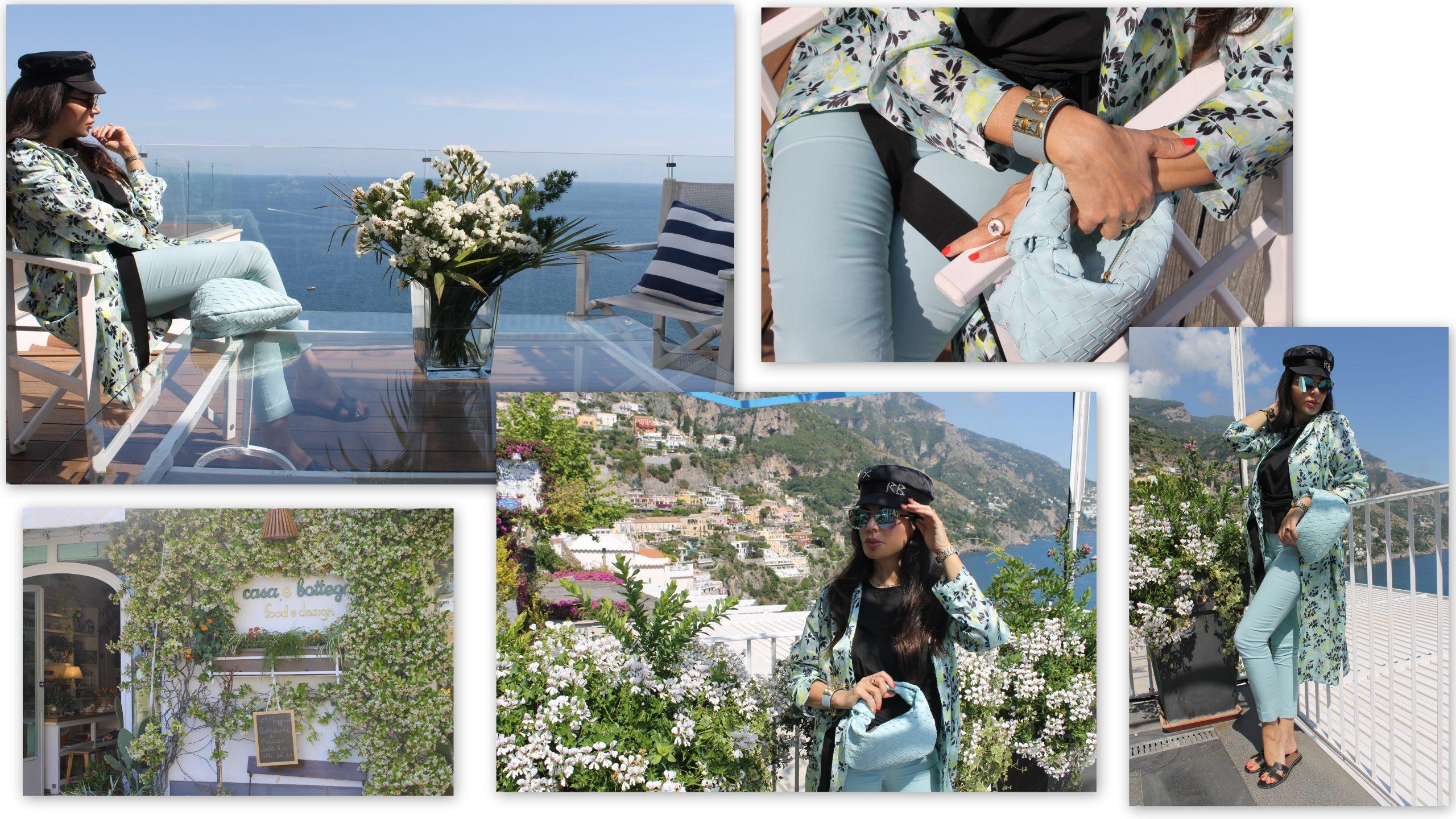 Positano Amalfi Coast Travel Summer Vacation Staycation Light Blue Summer 2021 Trend Paola Lauretano