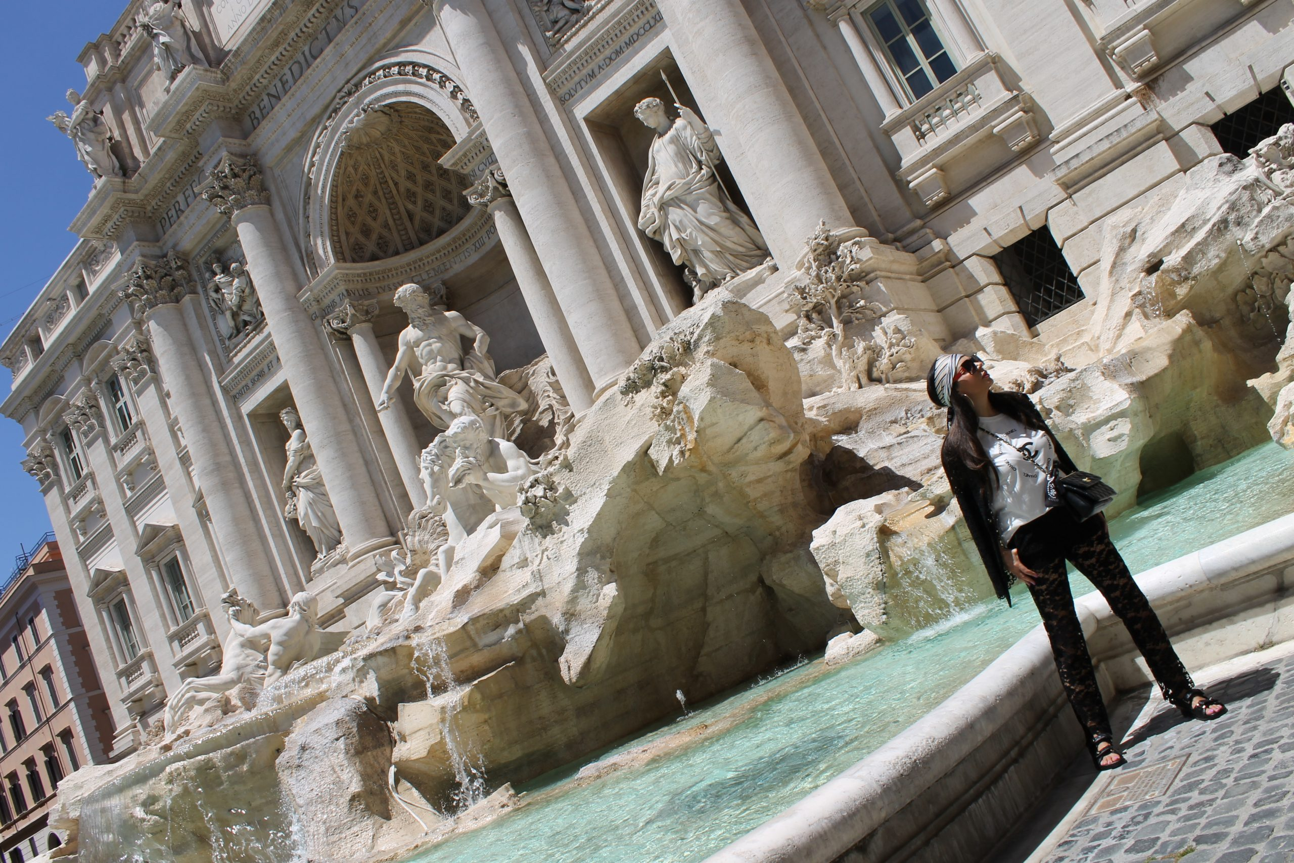 Rome Tour Italy Staycation Fountain of Trevi Shooting Chanel Look Paola Lauretano
