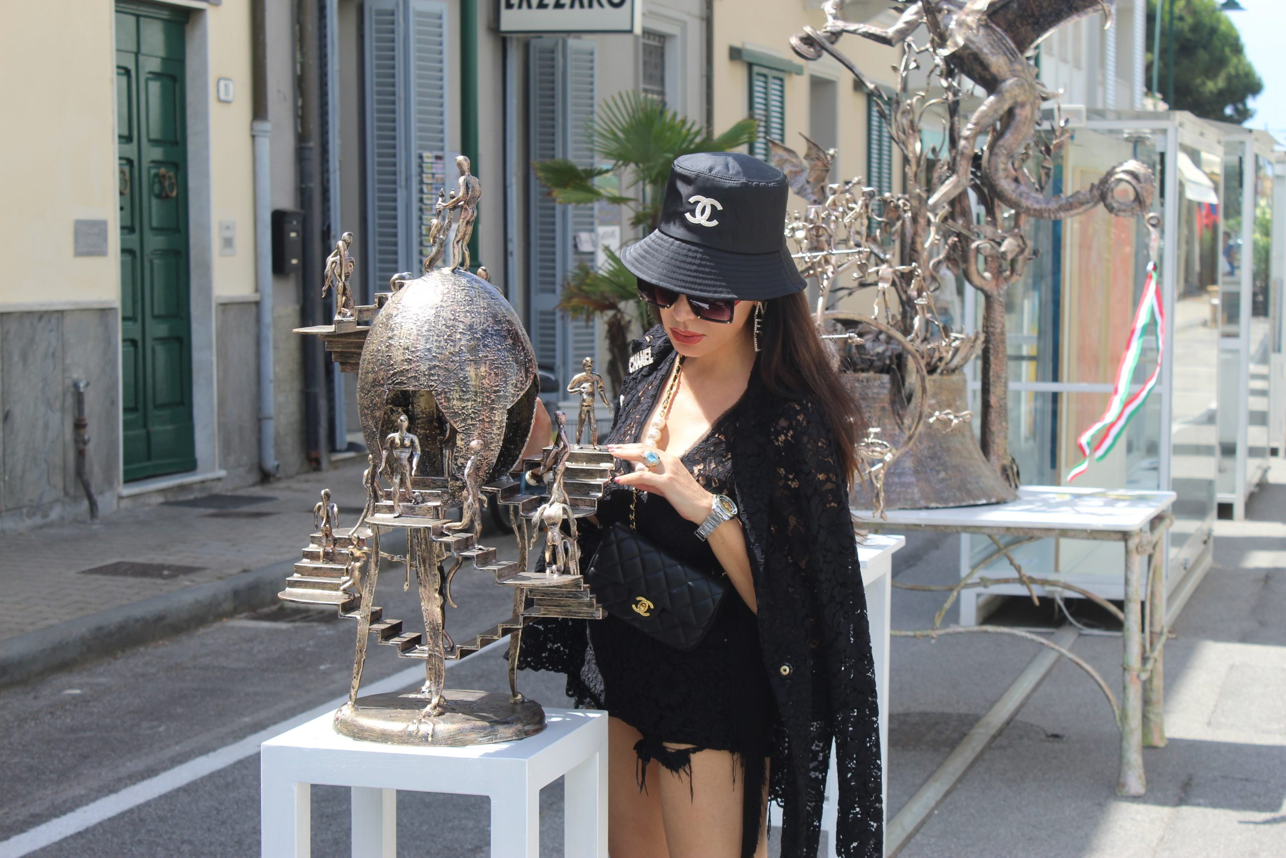 Italian Summer Staycation Forte Dei Marmi Prada Total Look Outfit Inspo Paola Lauretano