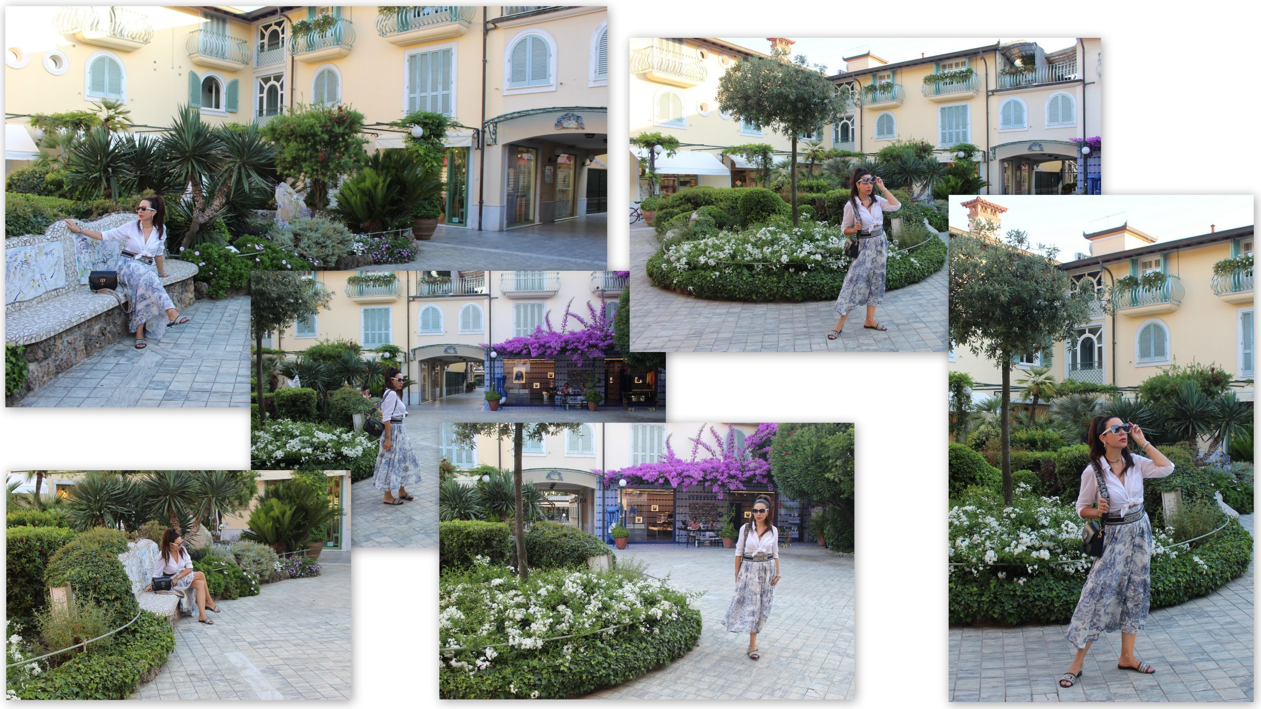 Italian Riviera Forte dei Marmi Vacation Italian Holiday Dior Total Look