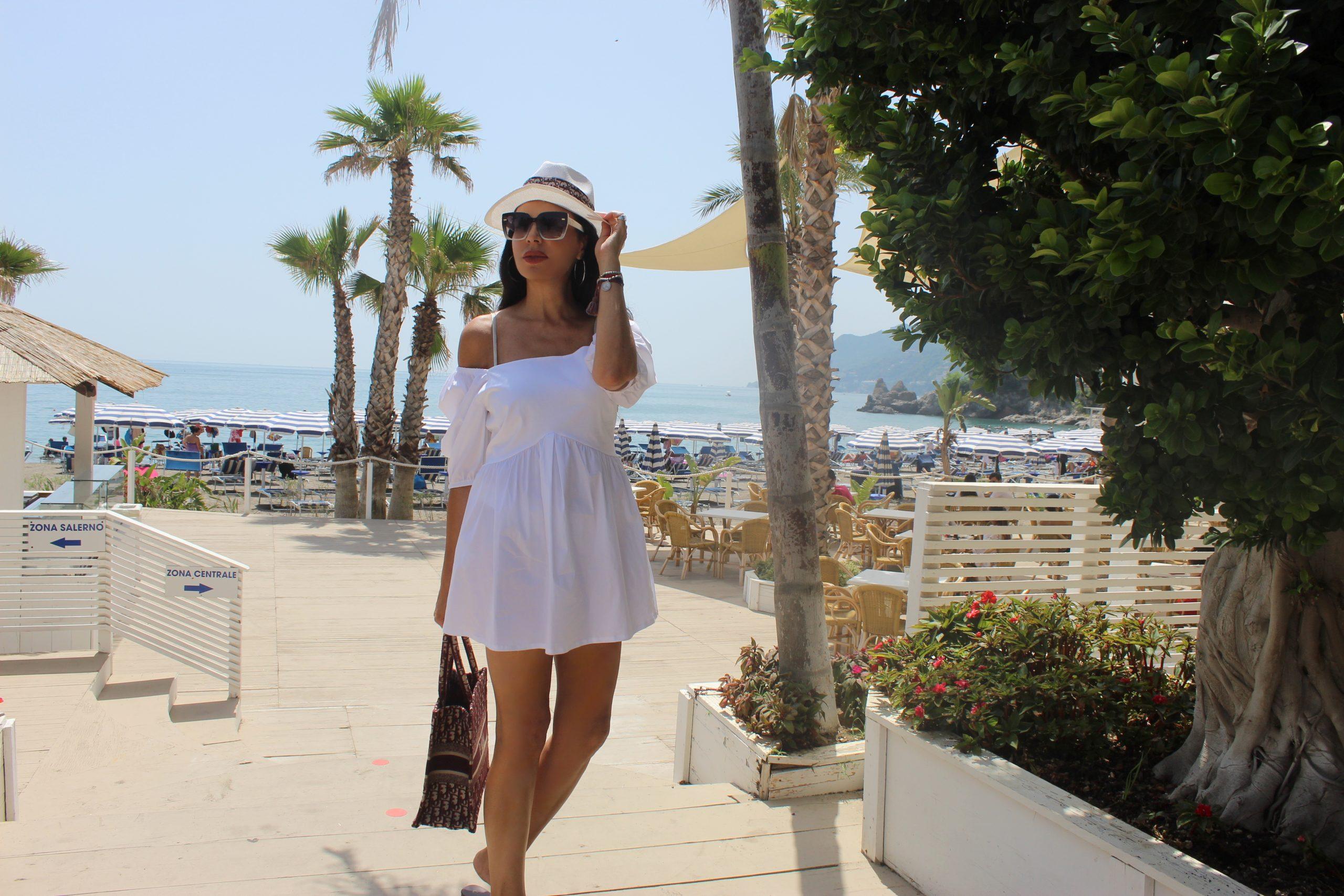 Italian Staycation Travel Tips Little White Dress Summertime Beachwear Paola Lauretano