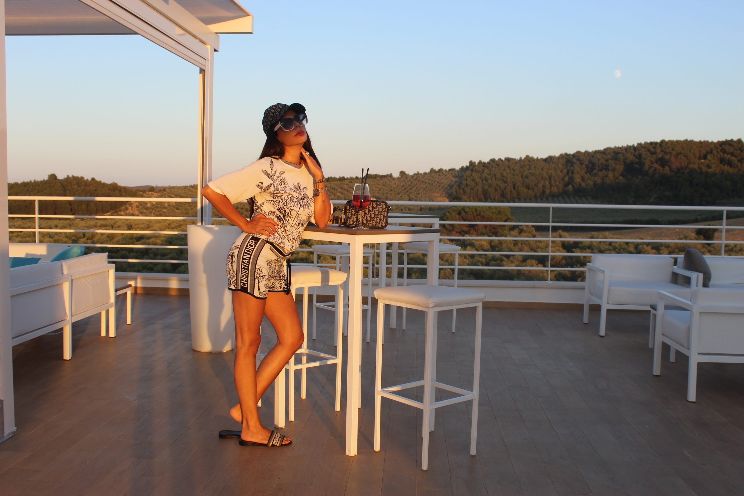 Skybar Italian Summer Staycation Puglia Dior Matching Set and Accessories