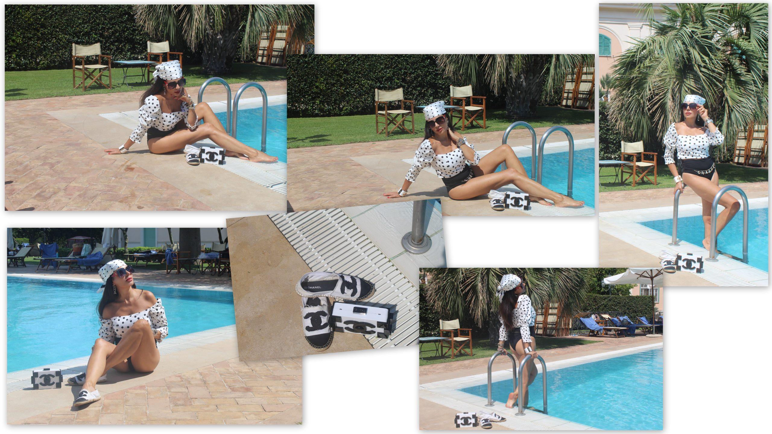 Summer Vacation Chanel beachwear lookbook black and white trend Gaeta Paola Lauretano