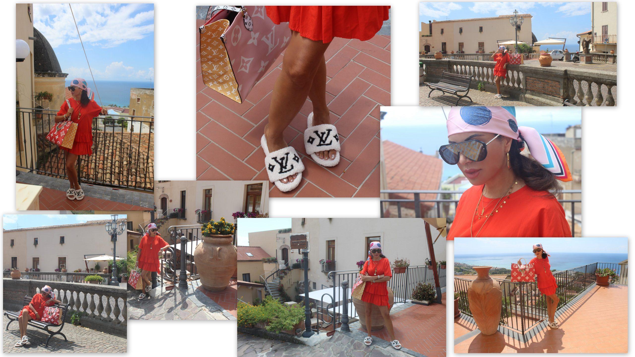 Italian weekend fall trend vivid red lookbook Visit Italy Louis Vuitton Accessories Paola Lauretano