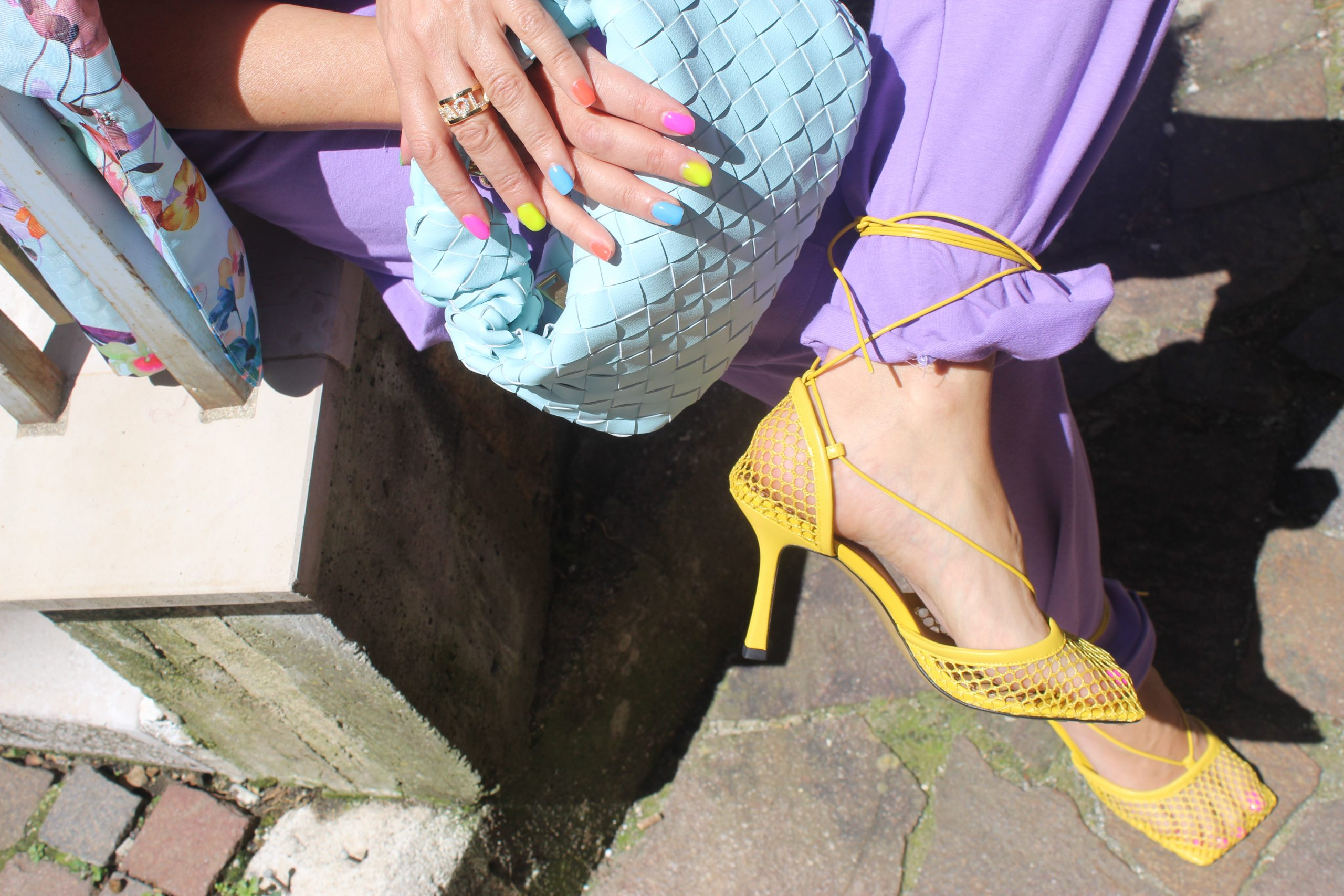 Lilac Trend Fall 2021 Color Block Asos Jumpsuit Bottega Veneta Bag Lana Caprina Blazer Paola Lauretano