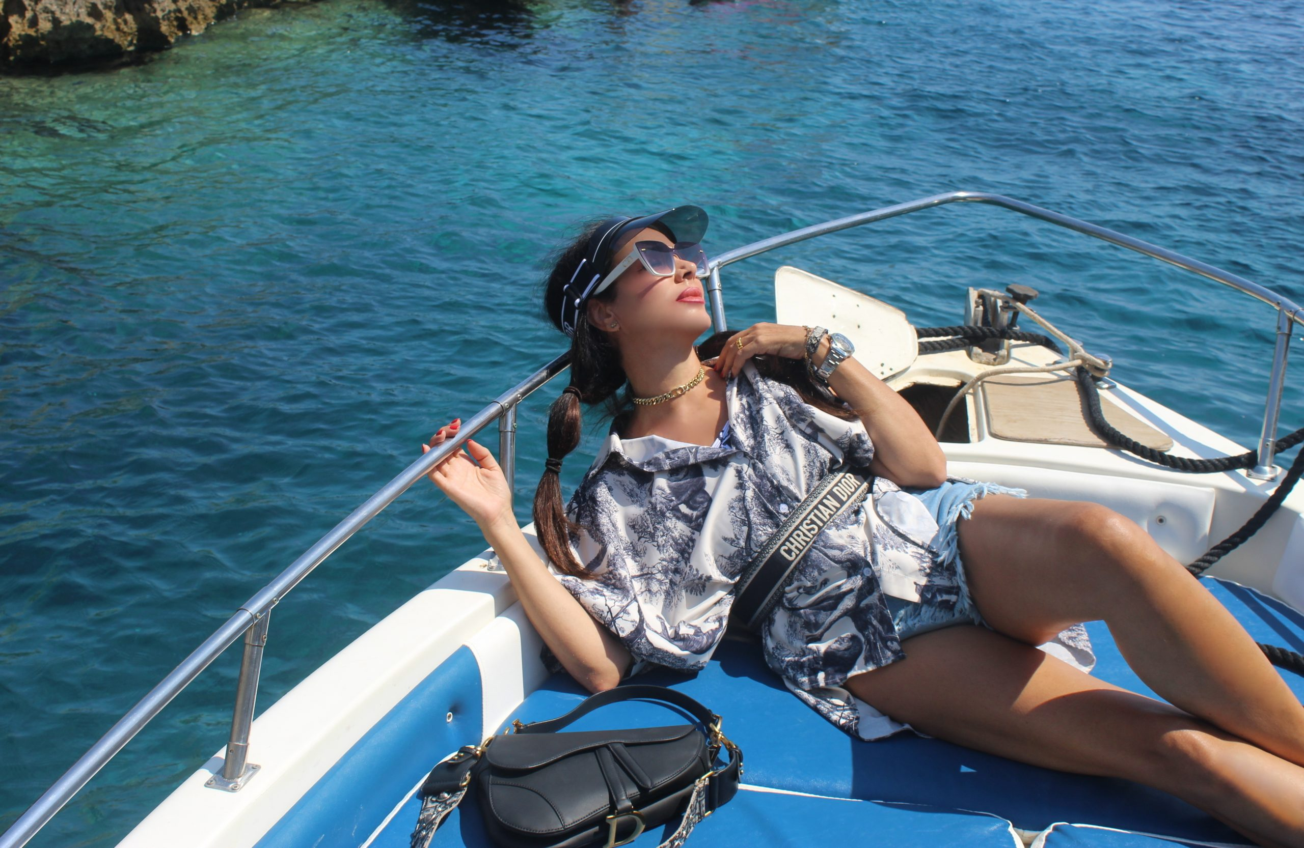 Italy on air Tremiti Elicopter Elicottero Isole Tremiti Puglia Gargano Molise VitirTremiti VisitItaly Dior Beachwear Lookbook