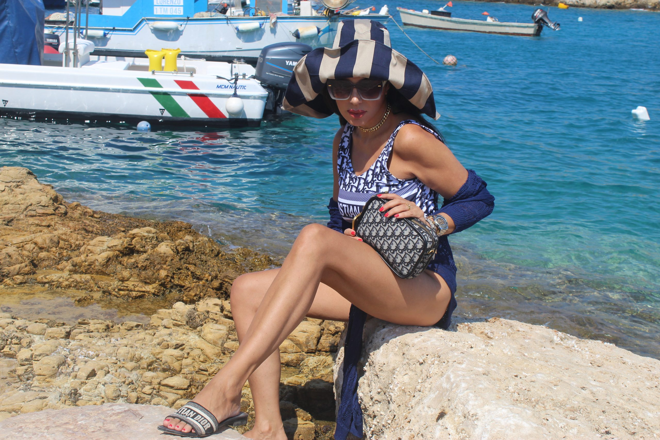 Italy Tremiti Isole Tremiti Puglia Gargano Molise VitirTremiti VisitItaly Dior Beachwear Lookbook