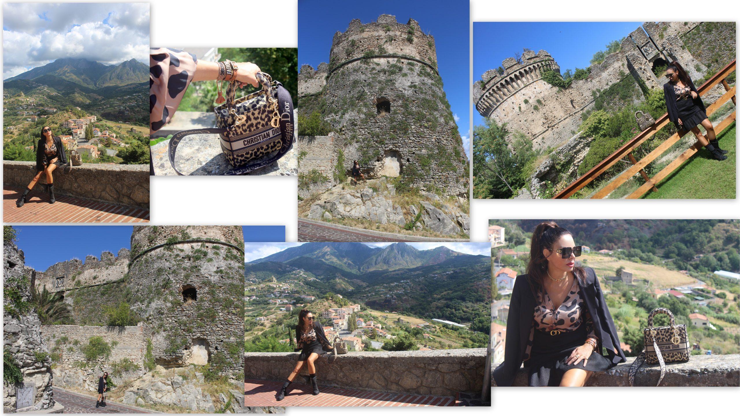 Belvedere Marittimo Travel SIMONA CORSELLINI blazer JIJIL blouse MNML COUTURE skirt DIOR accessories Paola Lauretano